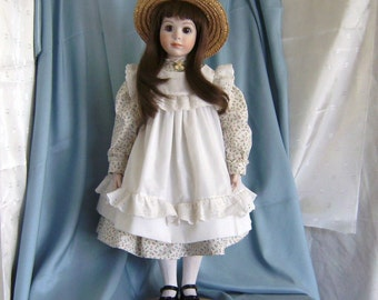 Charming Handmade Artist Porcelain Country Character Doll