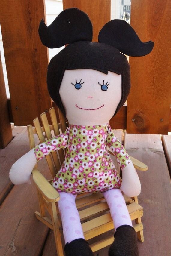 Miss Madi - handmade fabric doll - clearance item