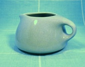 """Russel Wright Iroquois """"Casual"""" Speckled Ice Blue Creamer: Wright On"""