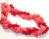 Pink and Red Necklace. Coral Sea Necklace. Double Strand Necklace. On Sale