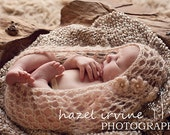 KNITTING PATTERNS baby - cocoon - instant download  'precious bundle' lace cocoon'