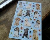 puppy stickers, scrapbooking stickers (1)