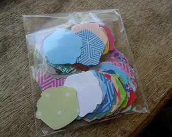 Cupcake cut outs, cupcake confetti, recycled cut outs, paper cupcakes (100)