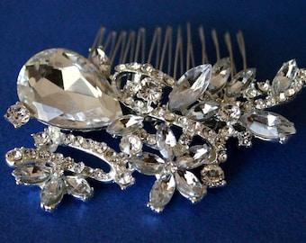 Rhinestone Bridal Hair Comb, bridal hair piece crystal w