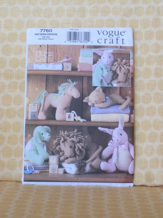 Easy Animals for Baby, Vogue Craft Pattern 7760