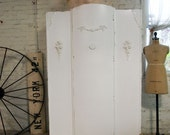 Painted Cottage Chic Shabby White Romantic Armoire AM262