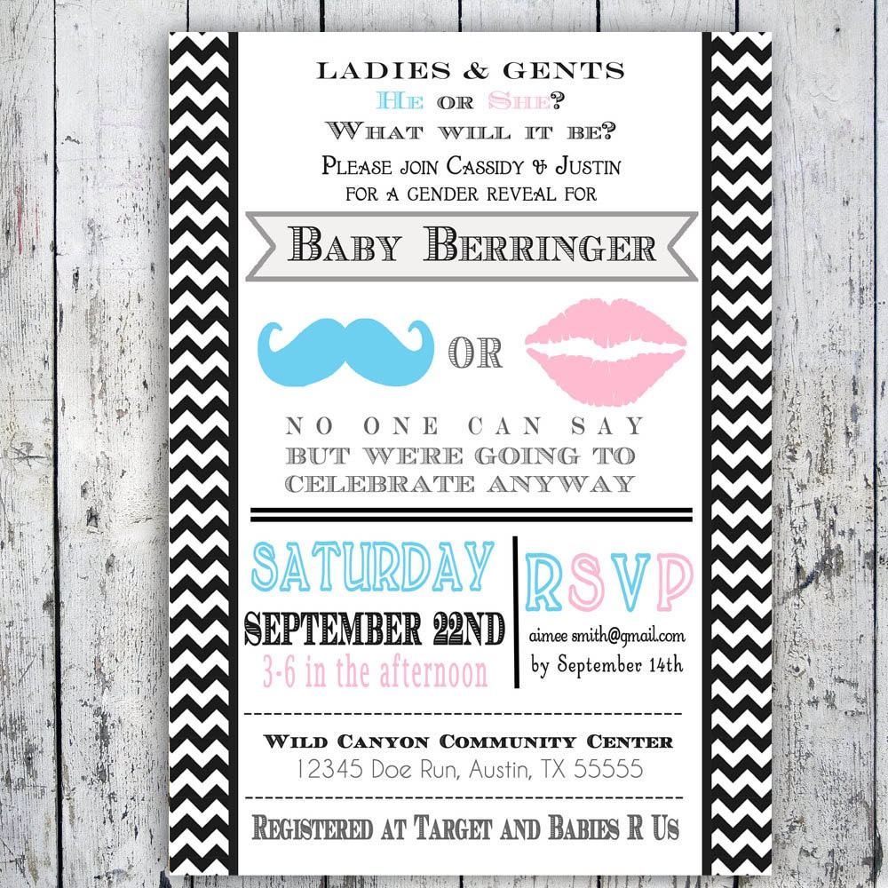 Wording For Gender Reveal Invitations as good invitation layout