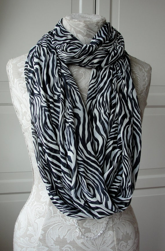SALE - XXL animal print infinity scarf by FAIRYTALE13 - huge statement scarf for fall.