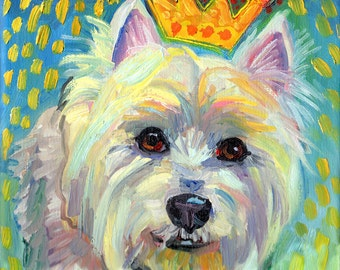 West Highland Terrier Print by Gena Semenov - FREE Shipping USA