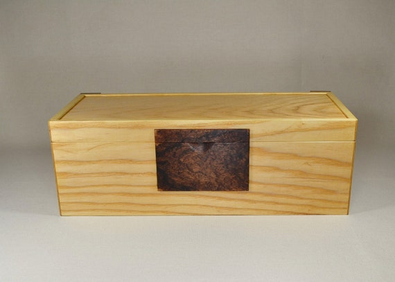 Ash wood jewelry box