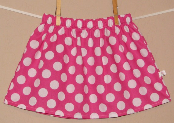 Simple Sweet Pink Polka Dot Twirl Skirt - Baby Toddler Girls - Disney Minnie Mouse - Great for Disney Trips and Gift