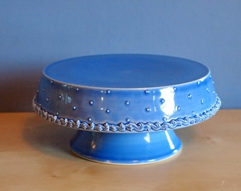 "medium 7"" cake stand in delphinium"