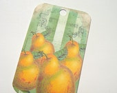 Summer Fruits Gift Tags Set of 6 Vintage Look Pears Cherries Bananas Berries Peaches