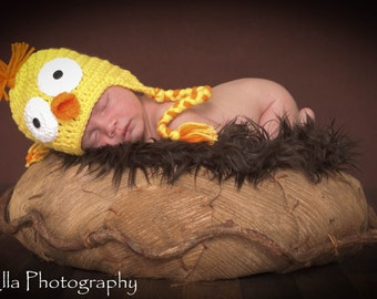 Crocheted Baby Easter Ducky Hat