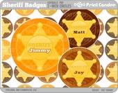 2 Inch - Editable PDF (8x10) - Sheriff Badges Digital Collage Sheet (No. 214B)