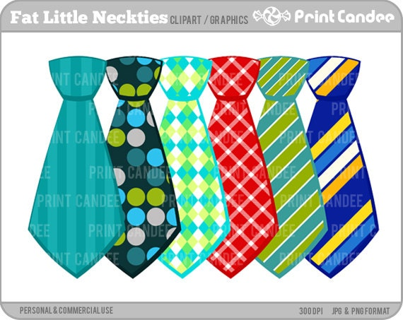 Neckties - Digital Clip Art - Personal and Commercial Use - ties, neck ...