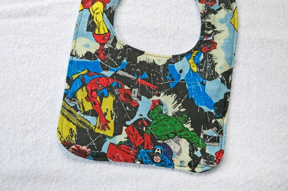 Baby Bib Marvel Comics -  great for a Baby Shower Gift or Christmas Gift