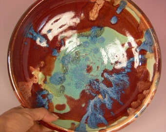 Amplified -- Beautiful Large Red Blue Bowl