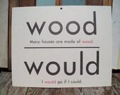 Homonym card-double sided