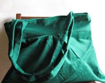 Corduroy Purse - Emerald Green - Pantone 2013