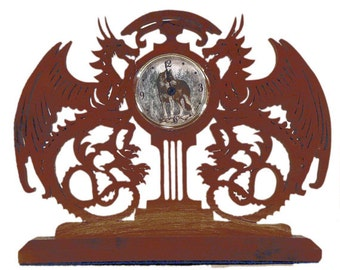 Time Guardians Dragon Mantle Clock