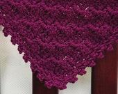 CROCHET PATTERN Baby Blanket Afghan Build-A-Diagonal-Shell
