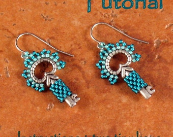 Tutorial and Two Tiny Keys - Classy Key Earrings