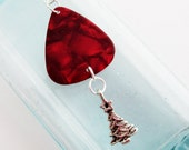 Guitar Pick Ornament Christmas Tree Red Pearloid