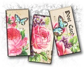 Rose Garden 1 x 2 Inch Rectangular Images Digital Collage Sheet Download and Print