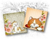 Kittens 1 x 1 Inch Squares Digital Collage Sheet Download and Print