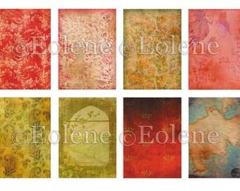 Conte de Fee 8 Backgrounds Digital Collage Sheet