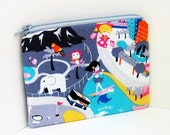 Small Zippered Pouch SILVER SURFER Coin Purse