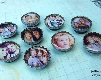9 of YOUR favorite INSTAGRAM PHOTOS as Bottle Cap Magnets