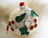 Christmas Ornament, Christmas Bauble, Christmas Tree Decoration, Handmade Ornament, Holly Berry Bauble