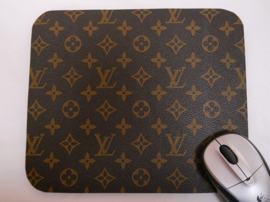 Louis Vuitton Monogram Leather Fabric Mouse Pad Recycled From