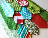 Little Guy HOLIDAY Christmas Necktie Tie - Fun and Festive Collection - (12 months - 2T) - Baby Boy Toddler - Custom Order - Photo Prop