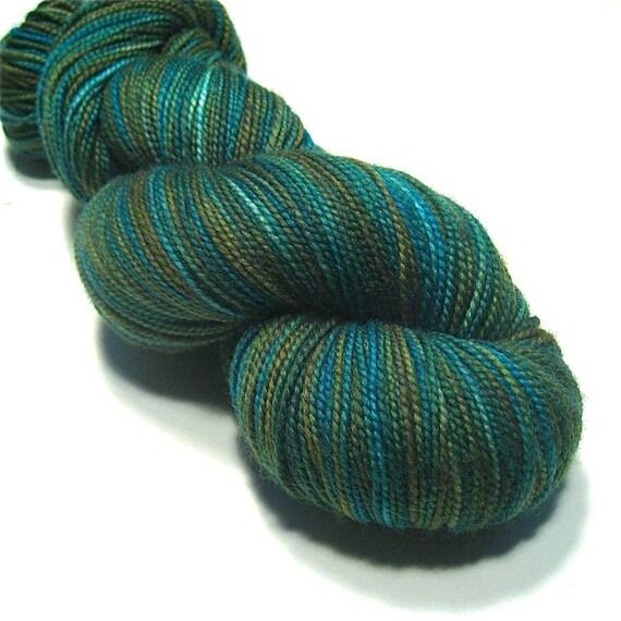 15% Off - Sock yarn fingering weight hand dyed superwash merino & nylon, Calm Waters