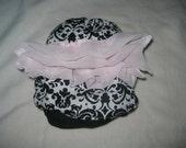 Damask ruffle butt OS pocket diaper