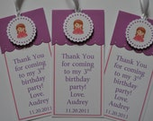 Princess Themed  Bookmark Party Favors Set of 12