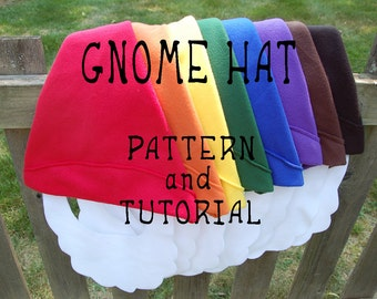 Gnome Hat PATTERN and TUTORIAL