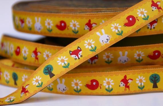 woven ribbon 'Summerforest' yellow