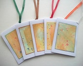Gift Tags Hand Painted Watercolor 5 pcs