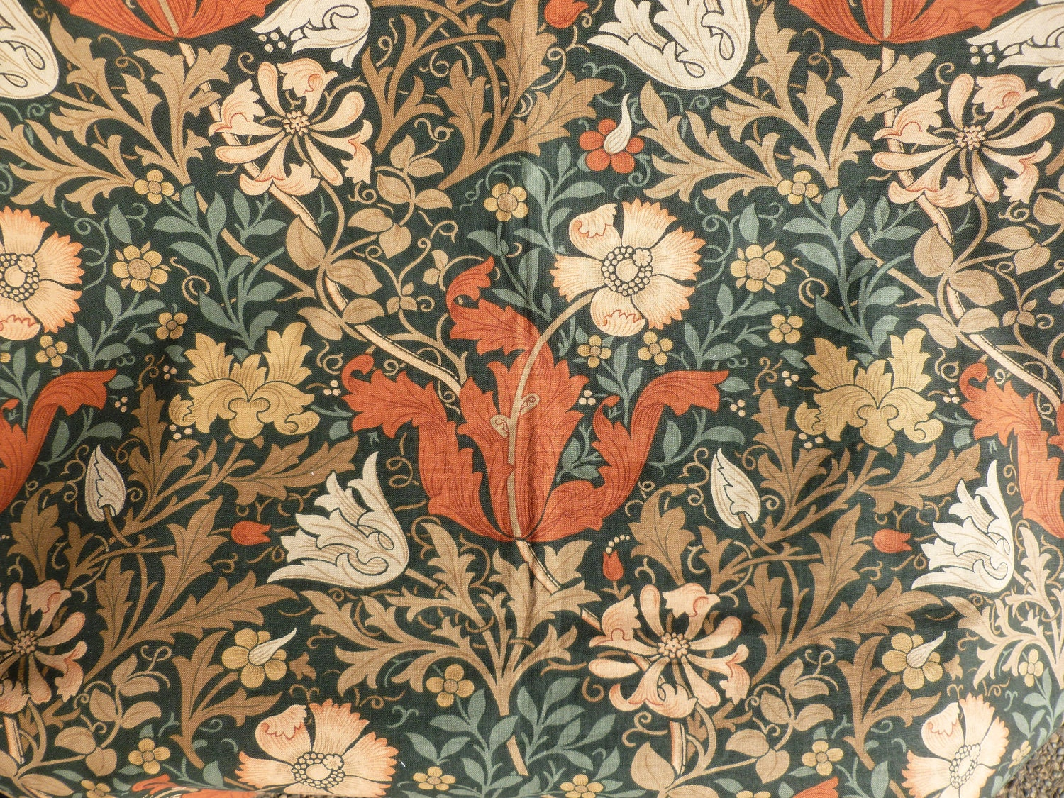 William Morris Compton Pattern 100 Cotton Home Dec Fabric By