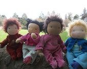 DEPOSIT Custom Waldorf Baby Doll 16 - 17 inch Noble Doll Waldorf Inspired Button-Jointed Doll