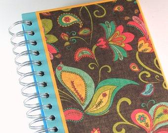 Flower Journal / Hardcover Sketchbook / Upcycled Book Journal
