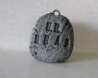 Headstone pendant/ornament Halloween Christmas