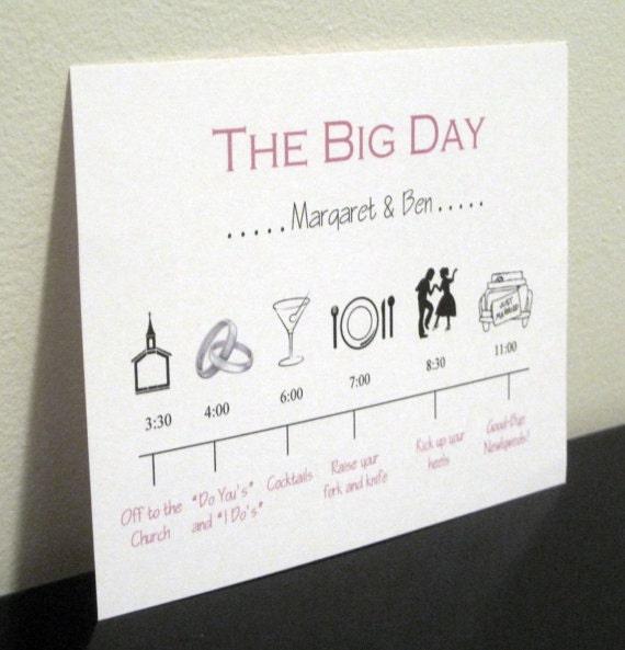Wedding Day Timeline: Reserved Listing Wedding Day Timeline Card