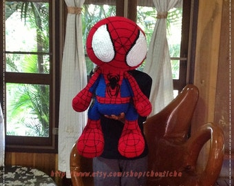 Spider M 22 inches - PDF crochet pattern