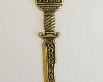 A letters opener, Jerusalem judaica, 1970's, made by feldman