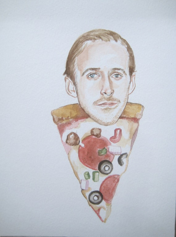 Ryan Gosling as a slice of everything pizza